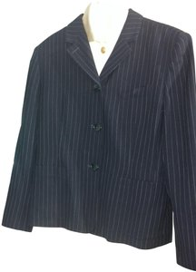 Ralph Lauren Work Dark NAVY BLUE PIN STRIPED Jacket
