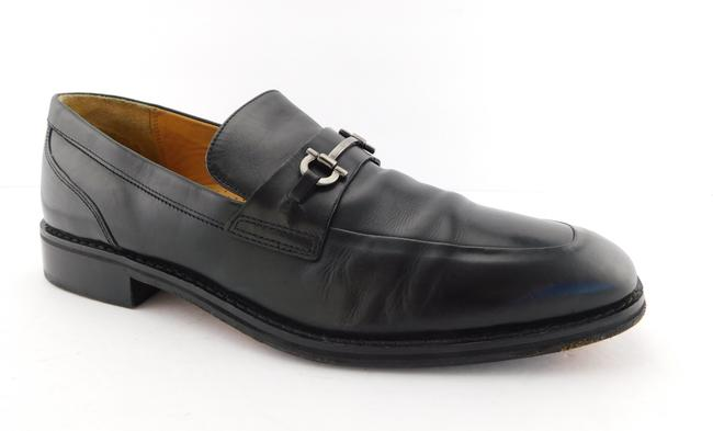 Item - Black Leather Gancini Horse Bit Men's Loafers Shoes