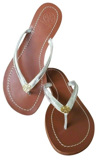 Tory Burch Silver Sandals Image 0