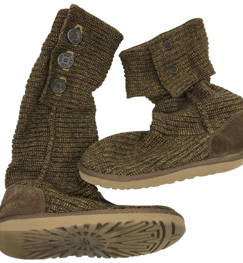 Preload https://img-static.tradesy.com/item/26173674/ugg-australia-brown-knitted-bootsbooties-size-us-10-regular-m-b-0-2-540-540.jpg
