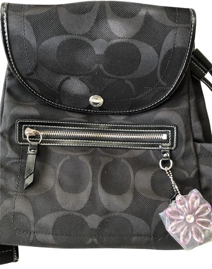 Preload https://img-static.tradesy.com/item/26173859/coach-kyra-daisy-signature-print-f16548-black-fabric-backpack-0-2-540-540.jpg