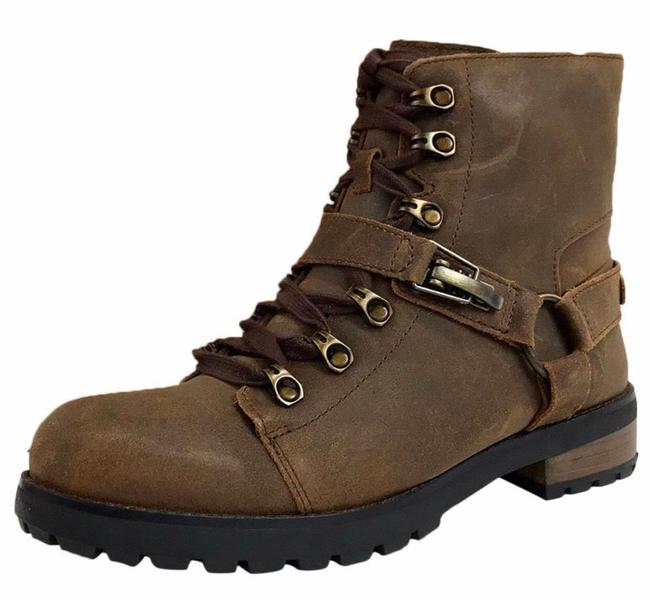 Item - Brown Lace Up Women's Boots/Booties Size US 6.5 Regular (M, B)