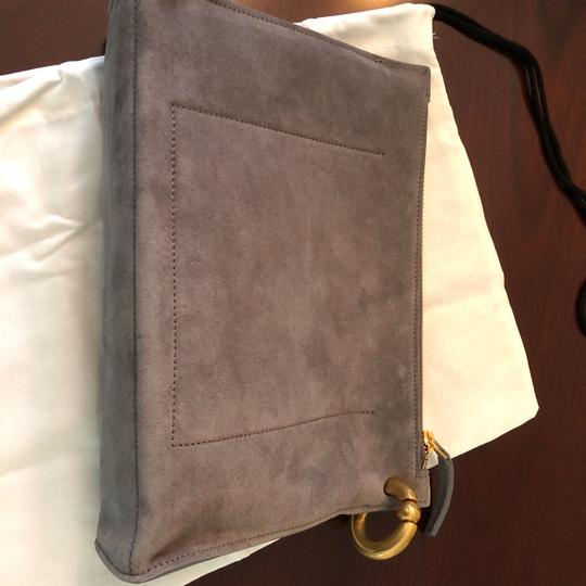 A.L.C. Leather Pouch Evening Gray Clutch Image 6