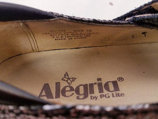 Alegria by PG Lite Distressed Leather Woman Size 39 Jil 752 Mary Janes SILVER Mules Image 1