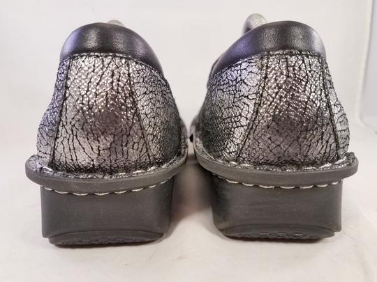 Alegria by PG Lite Distressed Leather Woman Size 39 Jil 752 Mary Janes SILVER Mules Image 4