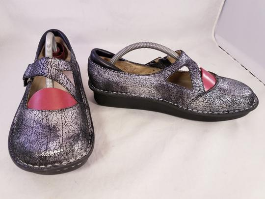 Alegria by PG Lite Distressed Leather Woman Size 39 Jil 752 Mary Janes SILVER Mules Image 6