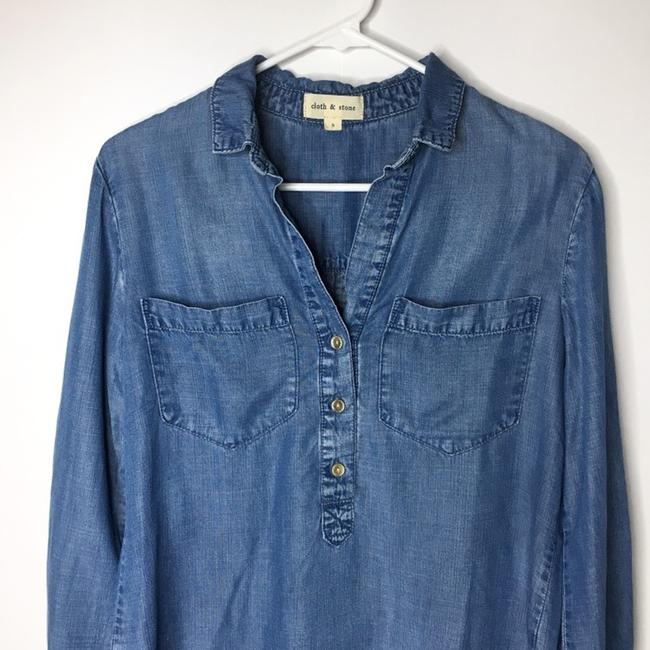 Cloth & Stone Button Down Shirt blue Image 1