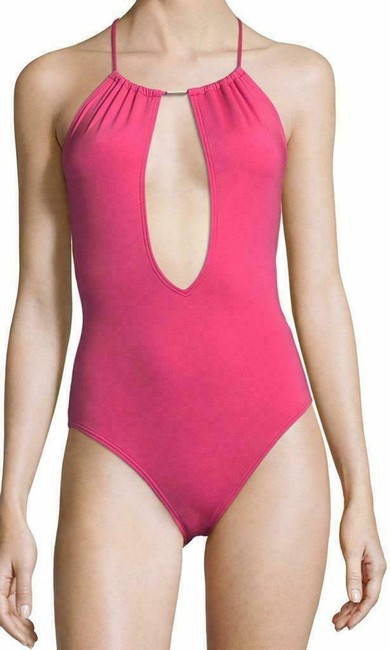 Vince Camuto Vince Camuto Solid U-Back One Piece Swimsuit Image 2