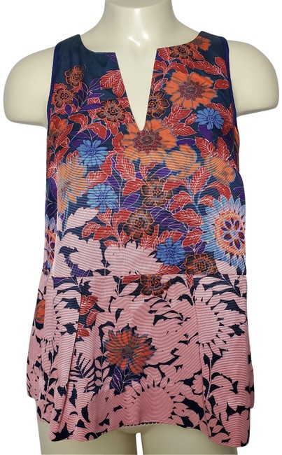 Preload https://img-static.tradesy.com/item/26174114/hd-in-paris-red-sleeveless-floral-anthropologie-blouse-size-2-xs-0-2-650-650.jpg