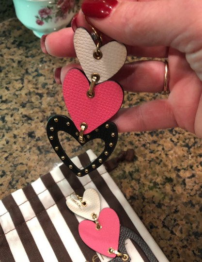 Henri Bendel heart chandelier leather earrings Image 4