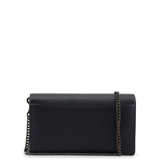 Coach Callie Fold Over Front Flap Chain Leather Blue Clutch Image 2