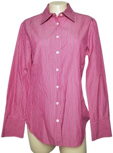 J.Crew Cotton Slim Fit Long Sleeves Striped Button Down Shirt PINK