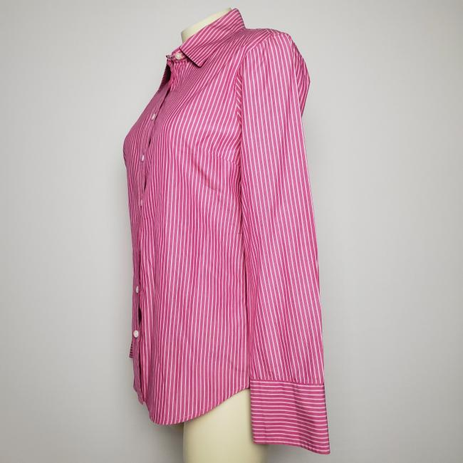 J.Crew Cotton Slim Fit Long Sleeves Striped Button Down Shirt PINK Image 1