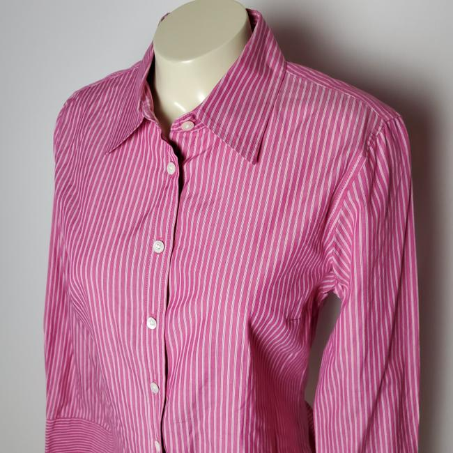 J.Crew Cotton Slim Fit Long Sleeves Striped Button Down Shirt PINK Image 2