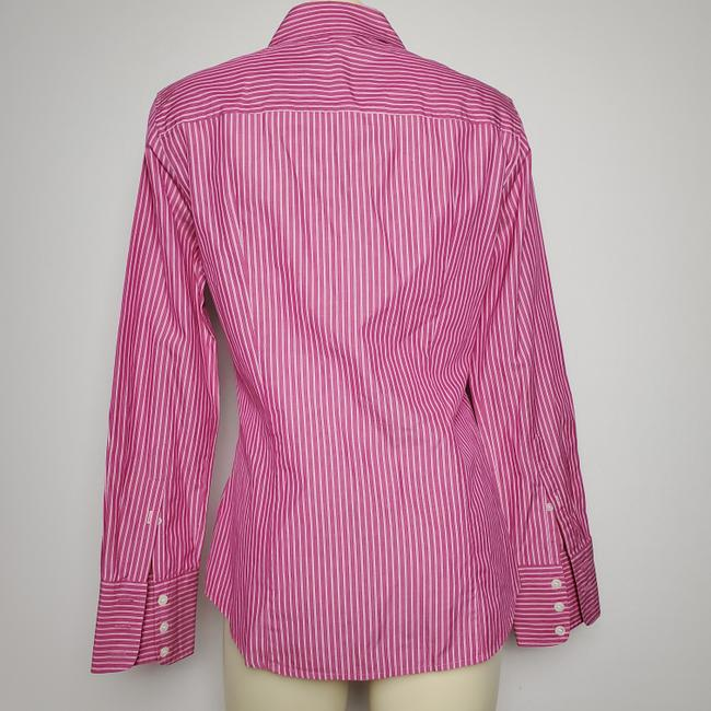 J.Crew Cotton Slim Fit Long Sleeves Striped Button Down Shirt PINK Image 3