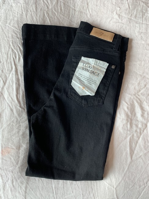 7 For All Mankind Trouser/Wide Leg Jeans-Dark Rinse Image 1