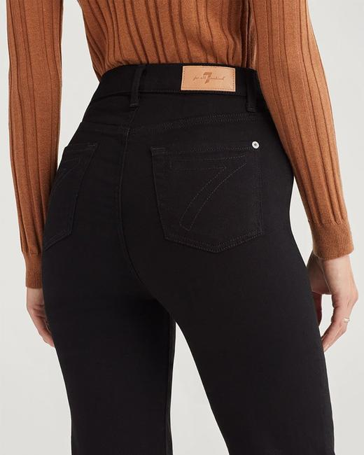 7 For All Mankind Trouser/Wide Leg Jeans-Dark Rinse Image 3