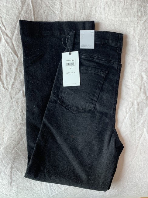 7 For All Mankind Trouser/Wide Leg Jeans-Dark Rinse Image 4
