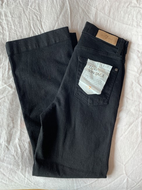 7 For All Mankind Trouser/Wide Leg Jeans-Dark Rinse Image 5
