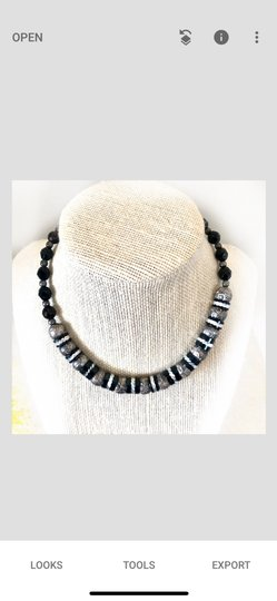 Unknown black onyx and silver Image 5