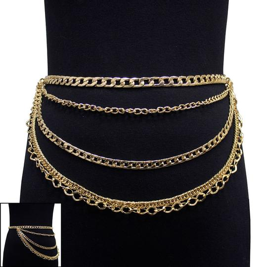 Other New Chain Link Waist Layered Belt Image 2