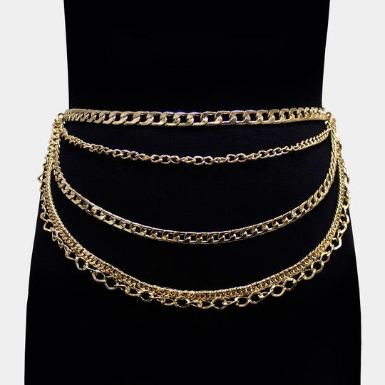 Other New Chain Link Waist Layered Belt Image 3