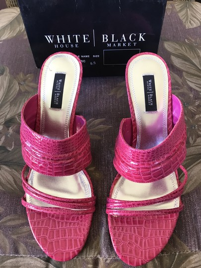 White House | Black Market Pink/Fushia Color #021 Sandals Image 1