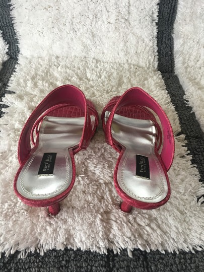 White House | Black Market Pink/Fushia Color #021 Sandals Image 6