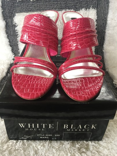 White House | Black Market Pink/Fushia Color #021 Sandals Image 7