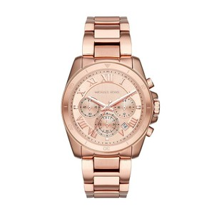 Michael Kors NWT Brecken Rose Gold-Tone Chronograph Watch Mk6367