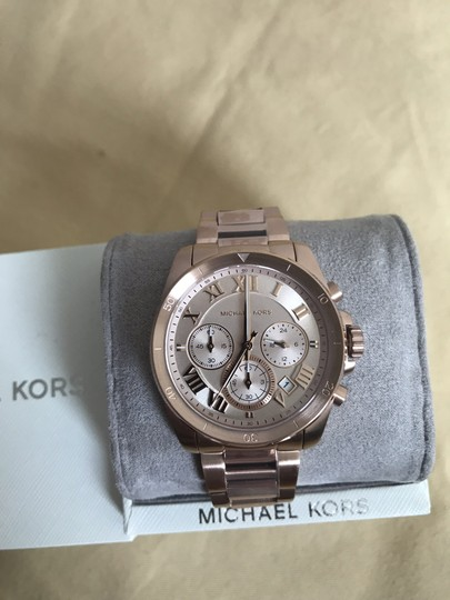 Michael Kors NWT Brecken Rose Gold-Tone Chronograph Watch Mk6367 Image 1