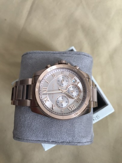 Michael Kors NWT Brecken Rose Gold-Tone Chronograph Watch Mk6367 Image 2