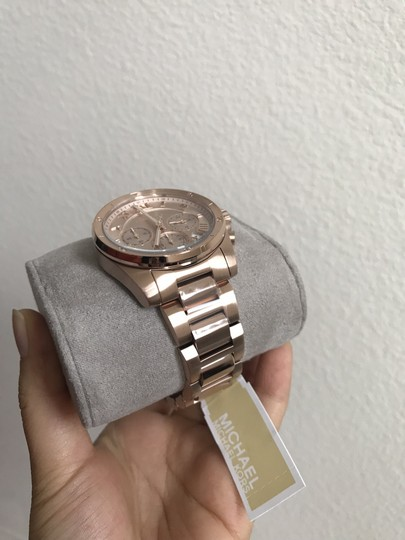 Michael Kors NWT Brecken Rose Gold-Tone Chronograph Watch Mk6367 Image 4