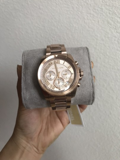 Michael Kors NWT Brecken Rose Gold-Tone Chronograph Watch Mk6367 Image 5