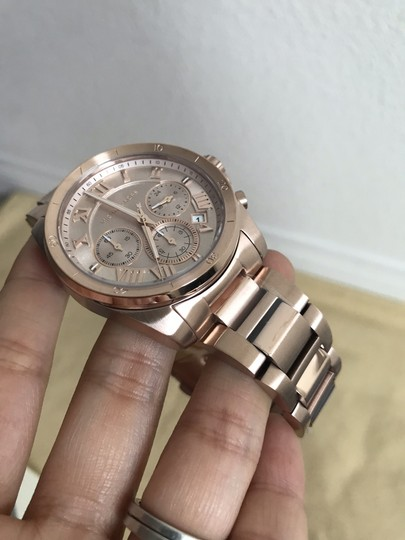 Michael Kors NWT Brecken Rose Gold-Tone Chronograph Watch Mk6367 Image 6