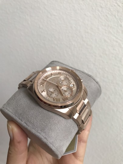 Michael Kors NWT Brecken Rose Gold-Tone Chronograph Watch Mk6367 Image 7