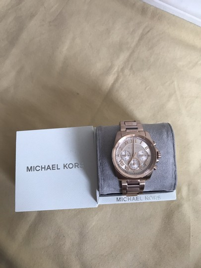 Michael Kors NWT Brecken Rose Gold-Tone Chronograph Watch Mk6367 Image 8