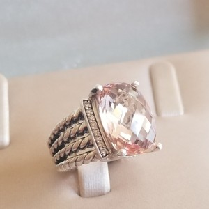 David Yurman David Yurman Wheaton 16x12 Morganite Diamond Ring