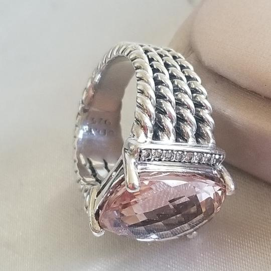 David Yurman David Yurman Wheaton 16x12 Morganite Diamond Ring Image 7