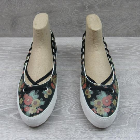 Converse Strappy Floral Black Flats Image 3