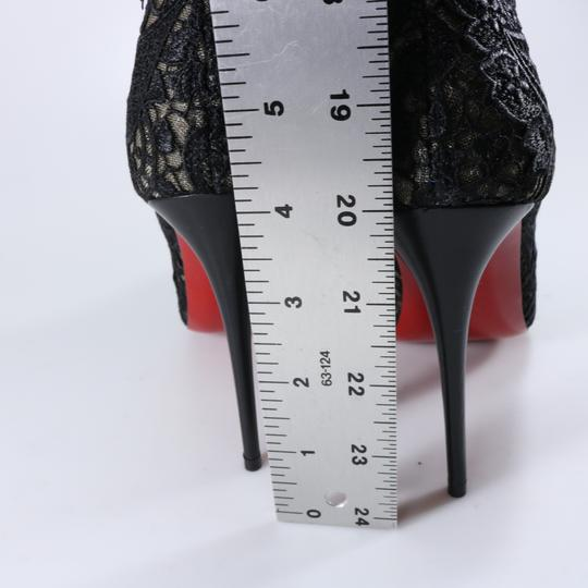 Christian Louboutin Lace Lace Knee High Black Boots Image 4