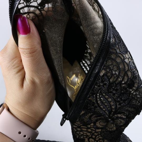 Christian Louboutin Lace Lace Knee High Black Boots Image 9