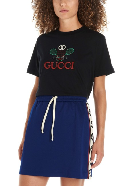 Gucci Tennis Embroidery Tennis Tennis T Shirt Black Image 1
