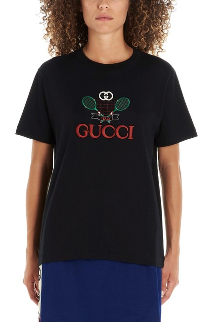 Gucci Tennis Embroidery Tennis Tennis T Shirt Black Image 2