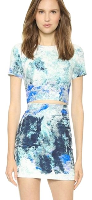 Preload https://img-static.tradesy.com/item/26174675/bec-and-bridge-white-blue-fire-and-ice-printed-cut-short-night-out-dress-size-4-s-0-2-650-650.jpg