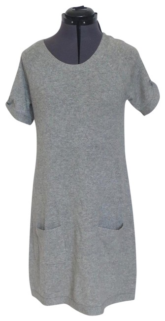 Item - Gray Candace Mid-length Short Casual Dress Size 8 (M)
