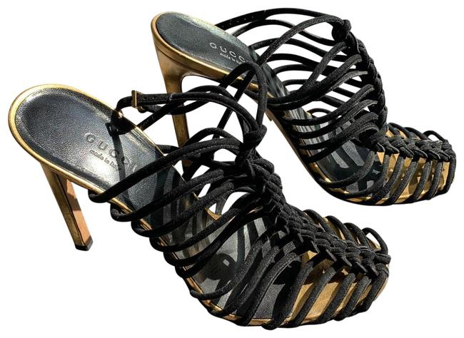 Item - Black Suede Strappy Heels Formal Shoes Size US 8.5 Narrow (Aa, N)