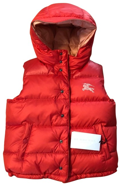Item - Coral Red and Dusty Pink Girls Down Reversible Gilet Jacket Vest Size OS (one size)