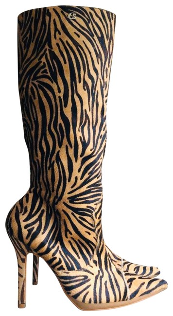 Item - Black and Brown Calf Hair Leather Boots/Booties Size US 8 Regular (M, B)