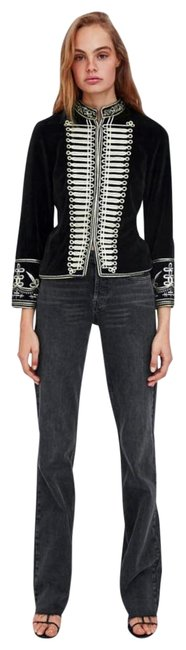 Item - Black Gold Embroidered Style S Jacket Size 6 (S)